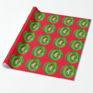 Papier Cadeau Papier d'emballage de Noël de kiwis