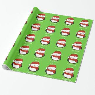 Papier Cadeau Papier d'emballage de Noël mignon de pingouin
