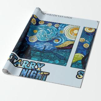 Papier Cadeau Papier d'emballage de nuit étoilée