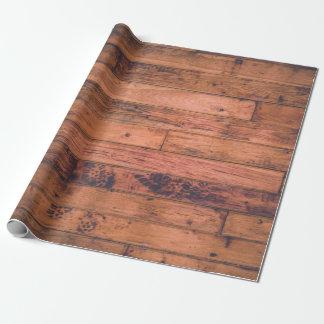 Papier Cadeau Papier d'emballage de palette en bois