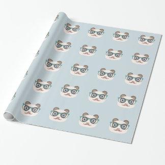 Papier Cadeau Papier d'emballage de panda de hippie