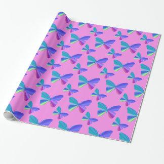 Papier Cadeau Papier d'emballage de papillon coloré