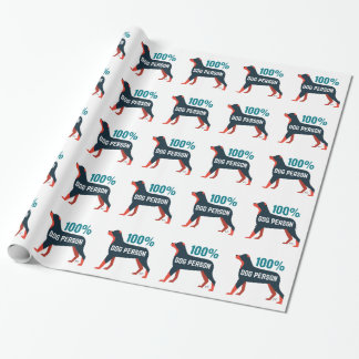 Papier Cadeau Papier d'emballage de personne de chien de 100%