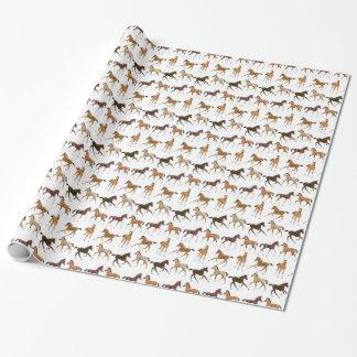 Papier Cadeau Papier d'emballage de petits poulains de cheval