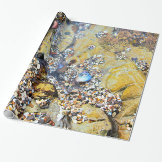Papier Cadeau Papier d'emballage de piscine de marée