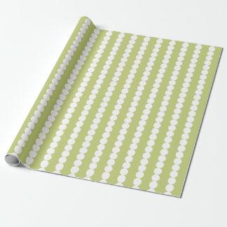 Papier Cadeau Papier d'emballage de rayures blanches olives