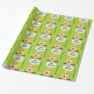 Papier Cadeau Papier d'emballage de RÉTRO anniversaire tardif de