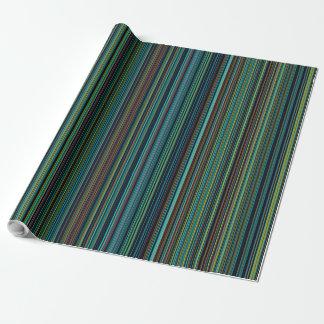 Papier Cadeau Papier d'emballage de rétro d'aqua de brun bleu