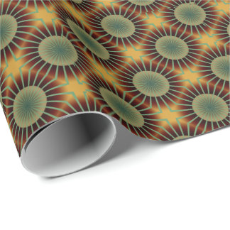 Papier Cadeau papier d'emballage de rétro fleur géniale des
