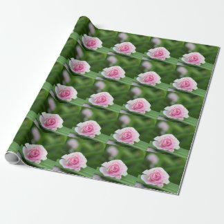 Papier Cadeau Papier d'emballage de rose de rose