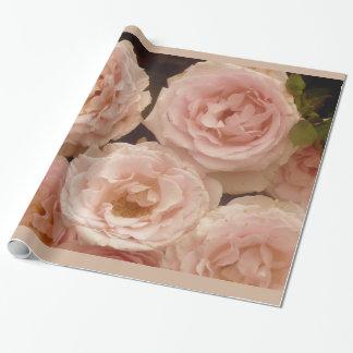 Papier Cadeau Papier d'emballage de roses précieux