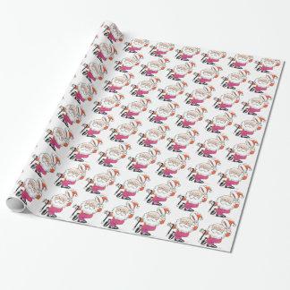 Papier Cadeau Papier d'emballage de Santa de danse