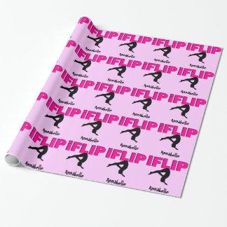 Papier Cadeau Papier d'emballage de secousse de gymnastique de