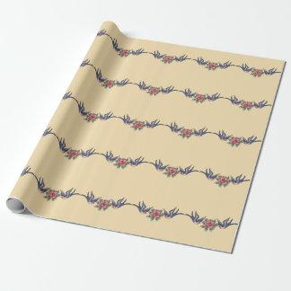 Papier Cadeau Papier d'emballage de style de tatouage de vieille