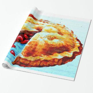 Papier Cadeau papier d'emballage de tarte aux cerises