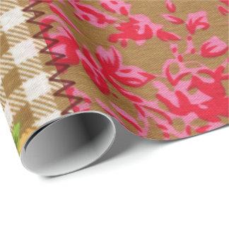Papier Cadeau Papier d'emballage de tissu floral
