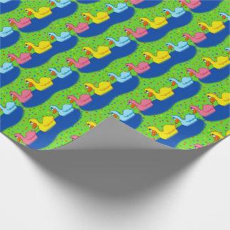 Papier Cadeau Papier d'emballage de trois canards