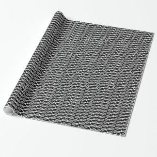 Papier Cadeau Papier d'emballage de tuba en noir et blanc