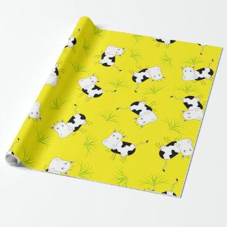 Papier Cadeau Papier d'emballage de vache folle