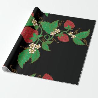 Papier Cadeau Papier d'emballage de vigne de fraise