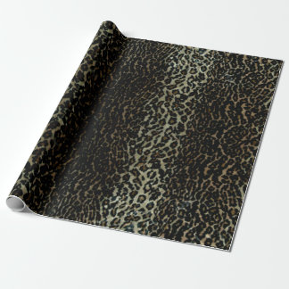 Papier Cadeau Papier d'emballage d'empreinte de léopard