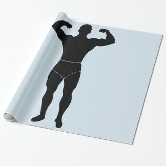 Papier Cadeau Papier d'emballage d'homme fort