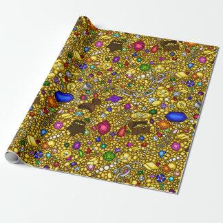 Papier Cadeau Papier d'emballage d'illustration de trésor de
