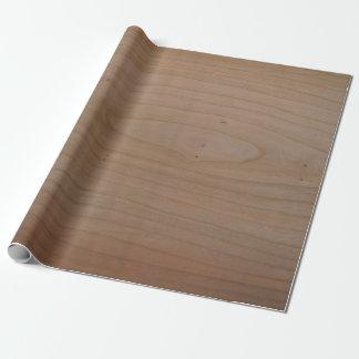 Papier Cadeau Papier d'emballage d'impression en bois de cerise,