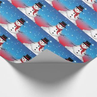 Papier Cadeau Papier d'emballage du bonhomme de neige 1