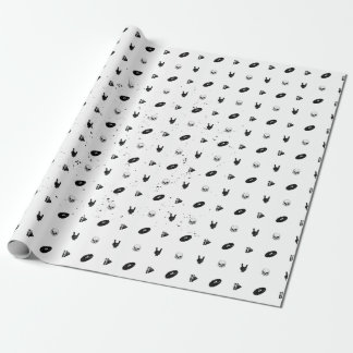Papier Cadeau Papier d'emballage en métal d'icône grunge de