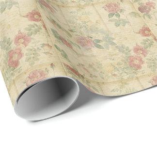 Papier Cadeau Papier d'emballage floral chic minable
