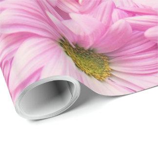 Papier Cadeau Papier d'emballage - marguerites roses de Gerbera