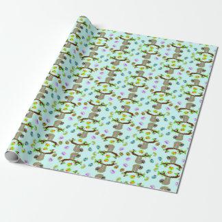 Papier Cadeau Papier d'emballage mat (bleu) Girly de paresse,