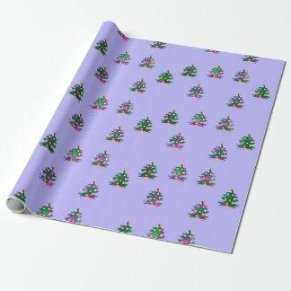"""Papier Cadeau Papier d'emballage mat d'arbres de Noël, 30"""" x 6'"""