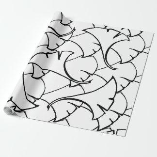 """Papier Cadeau papier d'emballage mat de motif floral, 30"""" x 30'"""