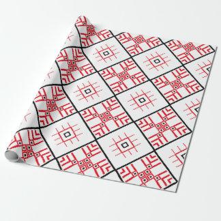 """Papier Cadeau Papier d'emballage mat de motifs slaves, 30"""" x 6'"""