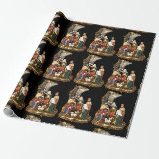 """Papier Cadeau Papier d'emballage mat de """"nativité"""", 30"""" x 6'"""