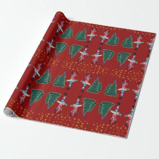 Papier Cadeau Papier d'emballage mat de nouvelle année de
