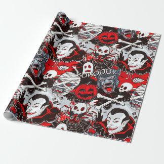 """Papier Cadeau Papier d'emballage mat de nuit de vampires, 30"""" x"""
