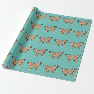 """Papier Cadeau Papier d'emballage mat de papillon orange, 30"""" x"""