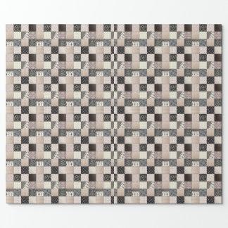 """Papier Cadeau Papier d'emballage mat de patchwork, 30"""" x 6'"""