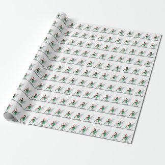 Papier Cadeau Papier d'emballage mat féerique de Joyeux Noël