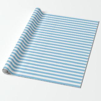 Papier Cadeau Papier d'emballage moyen de rayures bleu-clair et