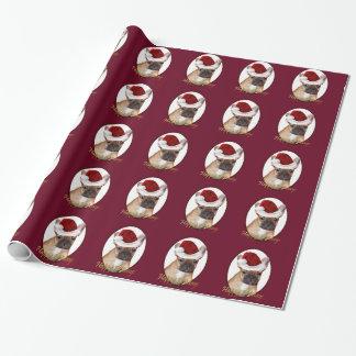 Papier Cadeau Papier d'emballage rouge de bouledogue français de