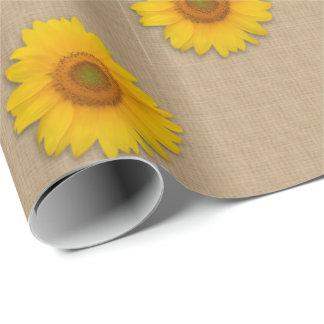 Papier Cadeau Papier d'emballage rustique de pays de toile de