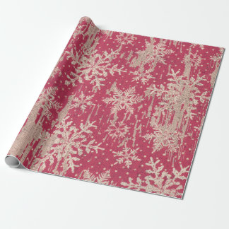 Papier Cadeau Papier d'emballage rustique de vacances de Noël de