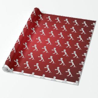 Papier Cadeau Papier d'emballage saisonnier de mamans rouges