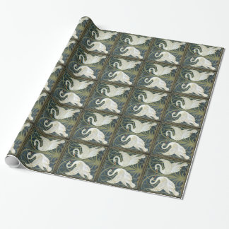 Papier Cadeau Papier d'emballage vintage de cygnes de William