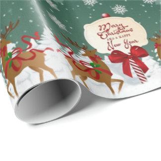 Papier Cadeau Papier d'emballage vintage de Joyeux Noël