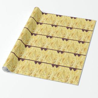Papier Cadeau Papier d'emballage vintage rustique de champ de